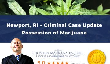 Newport Rhode Island Marijuana Possession Criminal Case Update